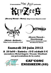 Affiche concert 30 juin 2012 bis