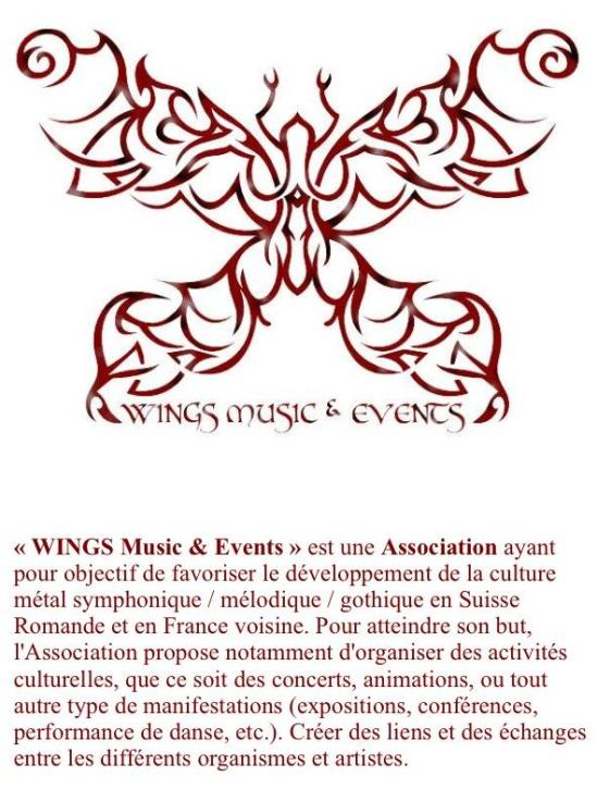 WINGS MUSIC & EVENTS, association à but non lucratif suisse.