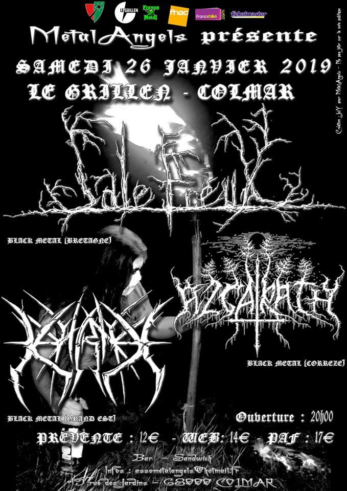 Concert Metal Angels 26 janvier 2019 : SALE FREUX – AZGARATH –KARNE
